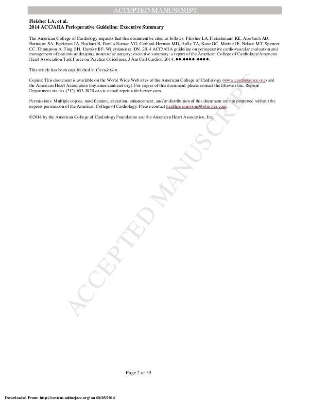 Cardiovascular risk assessment for non cardiac surgery