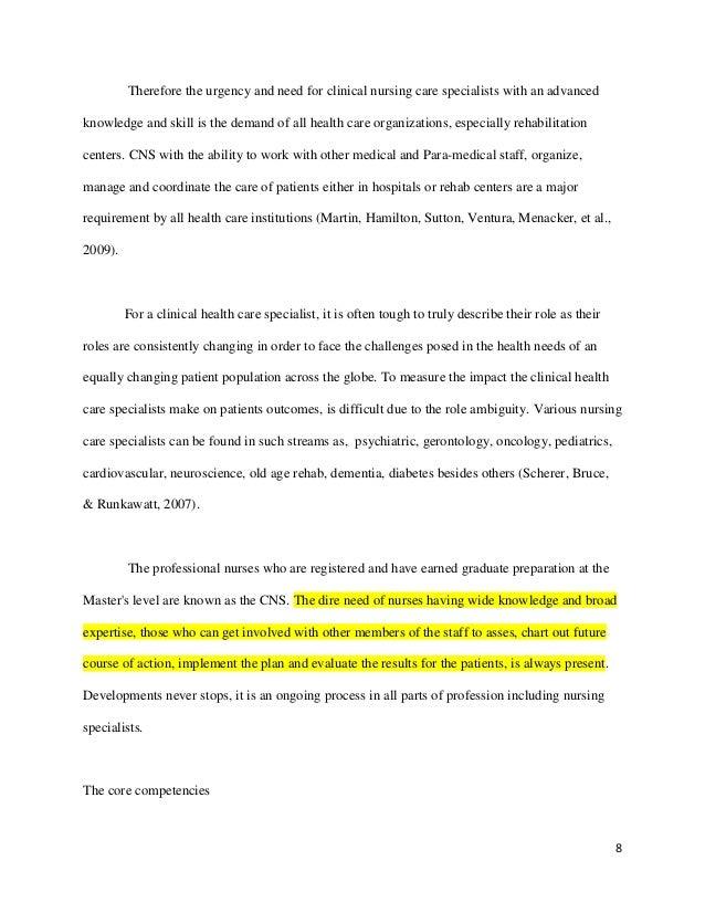 Pediatric nursing essay example