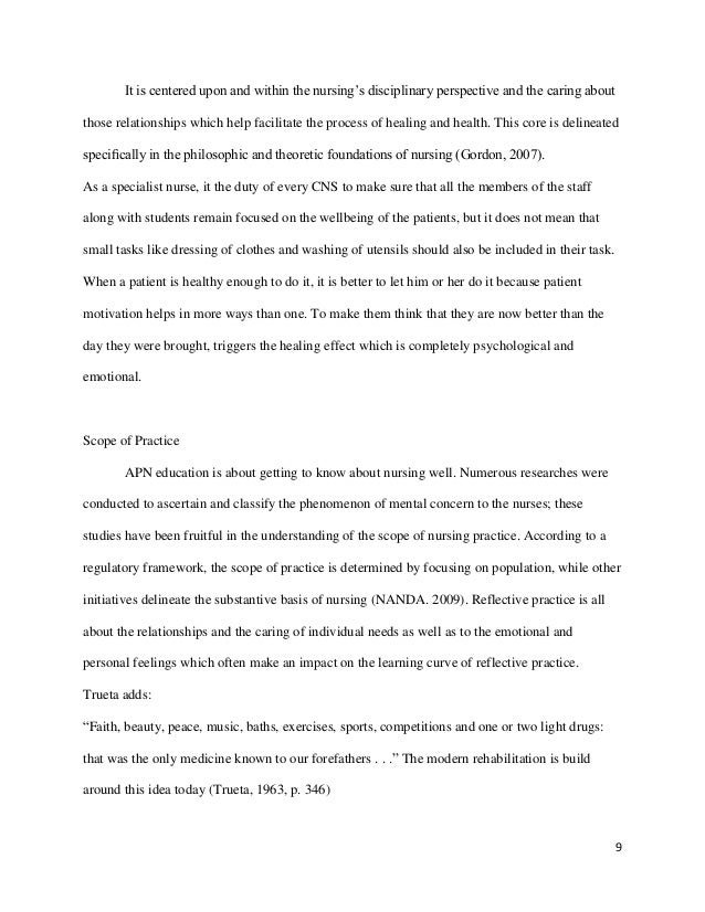 reflective essays mental health nursing