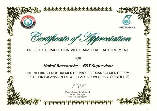 Certificate of appreciation petronas certificate of appreciation yadclub Image collections