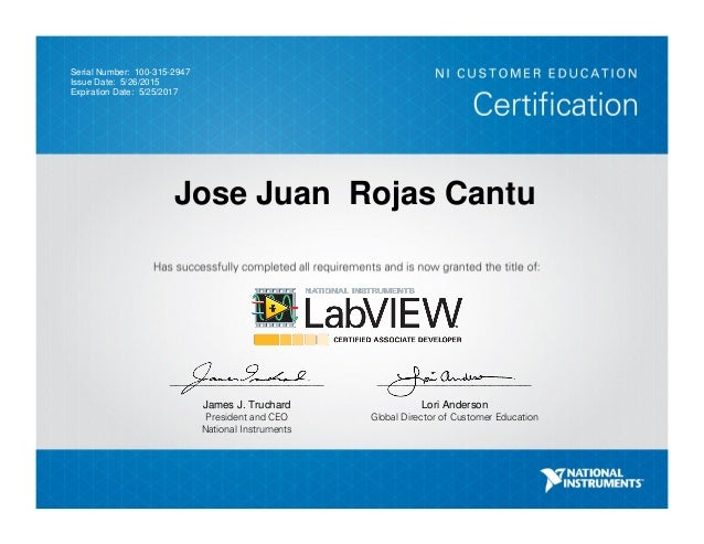 Labview Clad Certification