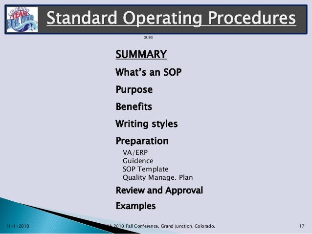 _Gerryshisler_Standard Operating Procedures