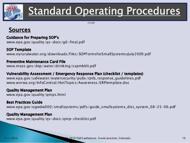 Standard Operating Procedures ... Amazing Design
