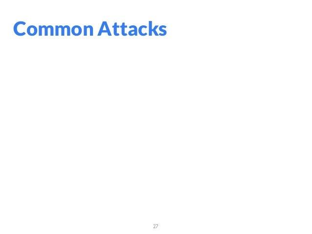 27 Common Attacks