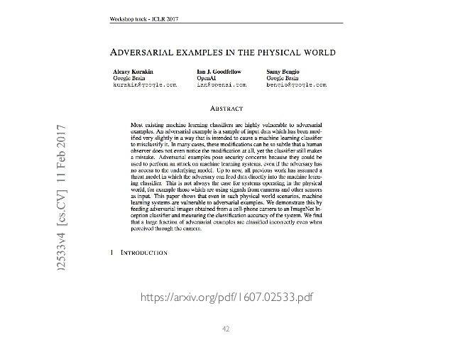 42 https://arxiv.org/pdf/1607.02533.pdf