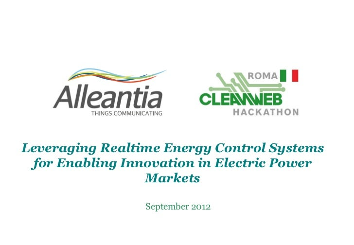 Leveraging Realtime Energy Control Systems for Enabling Innovation in Electric Power                 Markets              ...