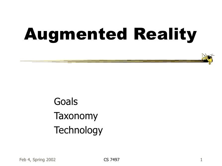 Augmented Reality Goals Taxonomy Technology
