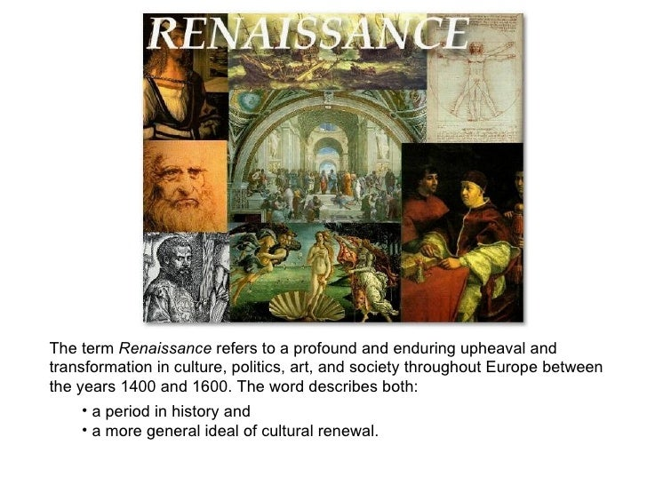 an introduction to the renaissance period in western europe Understand how the renaissance helped end the middle ages and  the  medieval era and heralded the start of the modern age in europe.