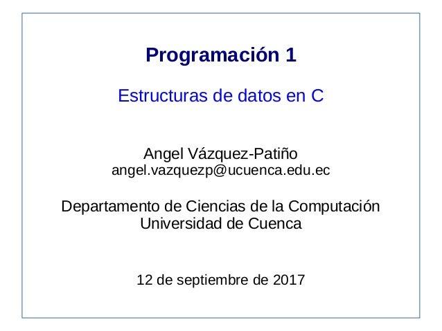 Programación 1 Arreglos En C