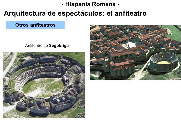 - Hispania Romana - Arquitectura de espectáculos: el anfiteatro Otros anfiteatros Anfiteatro de  Segobriga