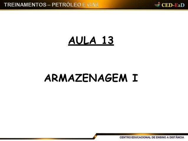 AULA 13 ARMAZENAGEM I