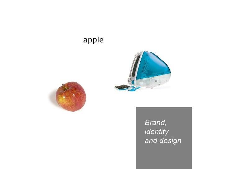 Brand,  identity  and design apple
