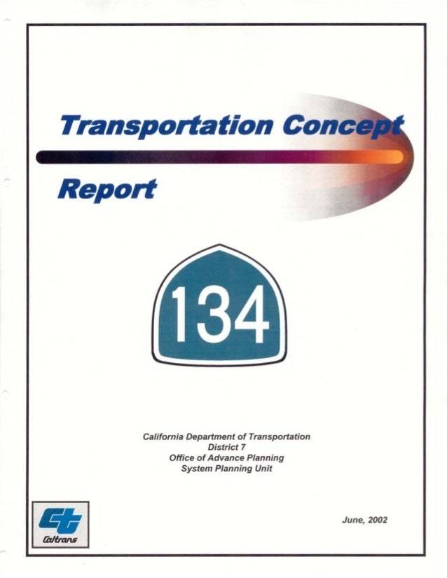 Transportation Con Report California Department of Transportation   District 7   Office ofAdvance Planning   System Planni...