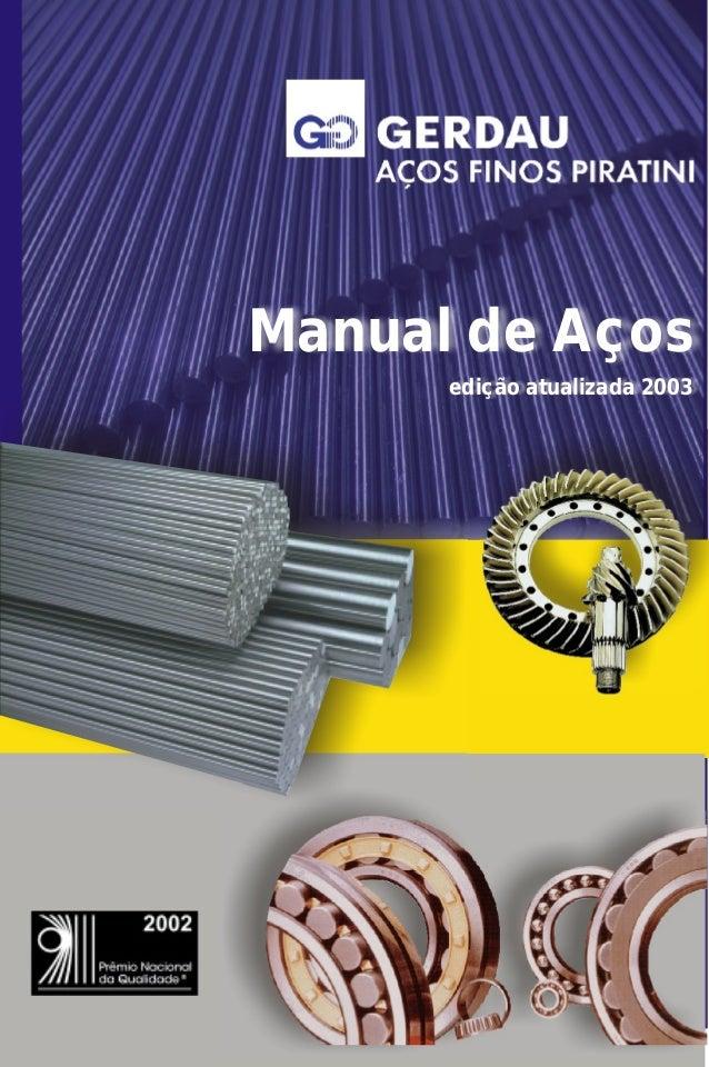 Manual de Aços edição atualizada 2003