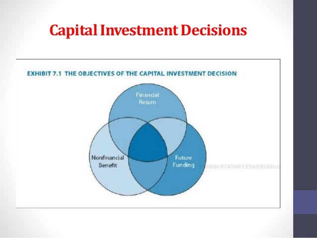 capital investment decisions the case of Because capital investment decisions place large amounts of resources at risk for long periods of time and simultaneously affect the future development of the firm, they are among the most important decisions made by managers every organization has limited resources, which should be used to maintain or enhance its long run profitability.