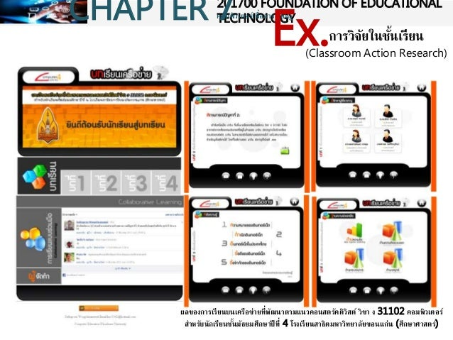 Classroom Action Research Design ~ Chapter foundation of educational technology