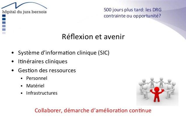 Réflexion  et  avenir   • Système  d'informa*on  clinique  (SIC)   • I*néraires  cliniques   • Ges*on...