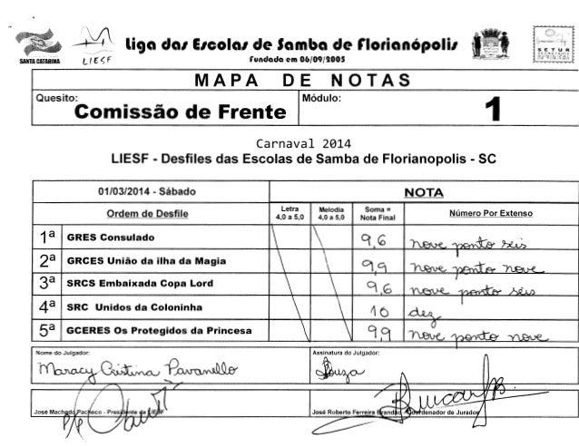 ~  liga da1 E1cola1 de Samba de florianOpoli1  l ( E' ~ f  SANTA CATARINA  'I  SETUR SECHC iAH:t.t, ~0UN~C!r~!  rundada em...