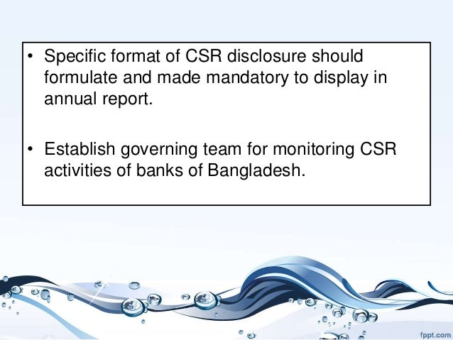 csr should it be made Comments off on the corporate social responsibility report and effective stakeholder engagement print e-mail tweet climate change, compliance & ethics.