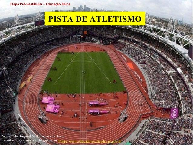Etapa Pré-Vestibular – Educação Física  PISTA DE ATLETISMO  Fonte: www.educadores.diaadia.pr.gov.br  11  Coordenador Regio...