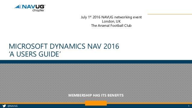 Microsoft Dynamics NAV 2016 -