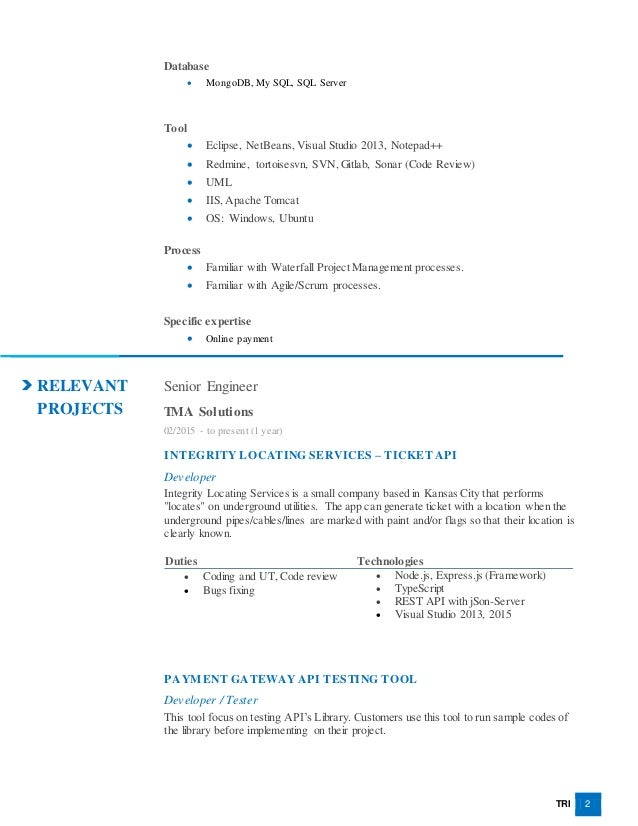 Nguyen Dung Tri - New Resume