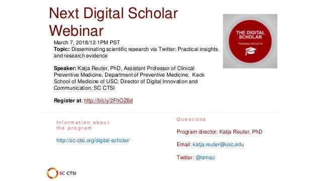 Using alternative scholarly metrics to showcase the impact of your research: An introduction for researchers (February 7, ...