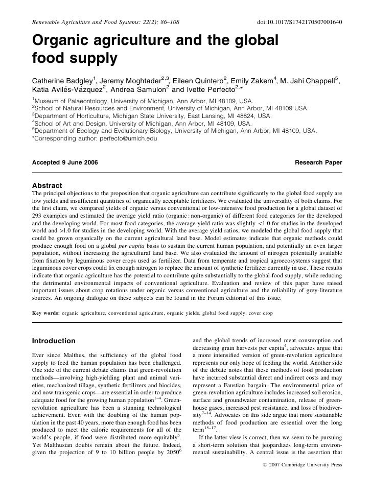 Renewable Agriculture and Food Systems: 22(2); 86–108                                            doi:10.1017/S174217050700...