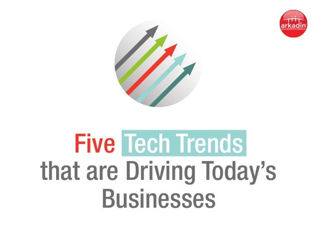 Five  Tech Trends  that are Driving Today's Businesses
