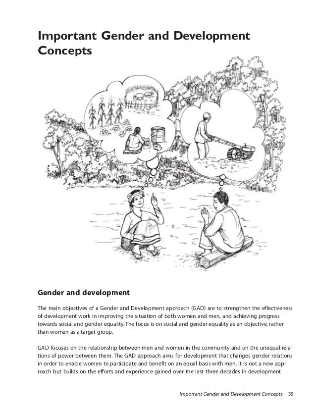 Important Gender and Development Concepts 39Important Gender and DevelopmentConceptsGender and developmentThe main objecti...