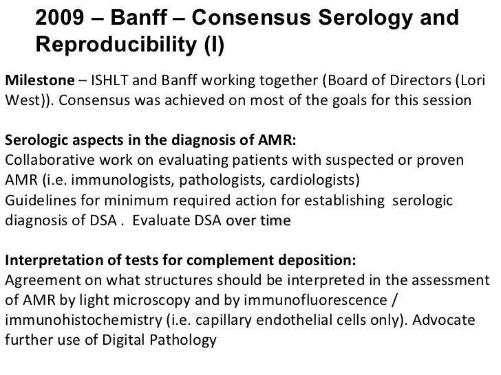 Heart Sessions Summary 11th Banff Conference On Allograft Pathology