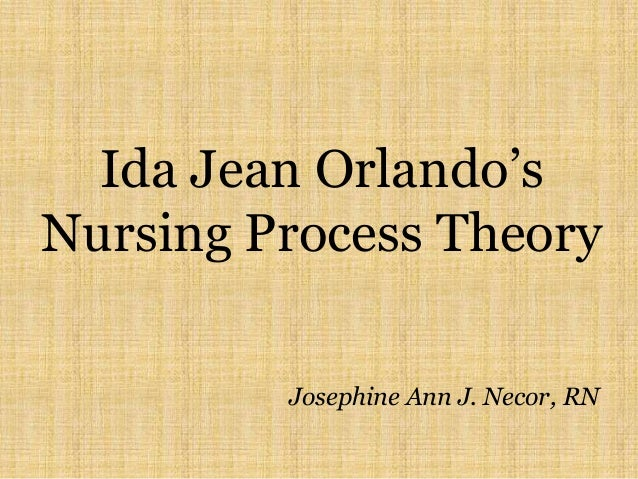 ida jean orlando nursing theory Nurses' hands orlando's nursing theory supports nurses simply nursing management, july, 40-41 schmieding, n j (1984) putting orlandos theory into practice journal of advanced  ida jean orlandos nursing process discipline is the property of its rightful owner do you have powerpoint slides to share if so, share your ppt presentation.