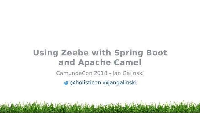 CamundaCon 2018: Using Zeebe with Spring Boot and Apache