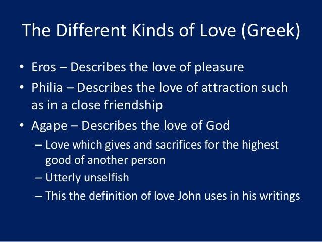 Kinds of love greek