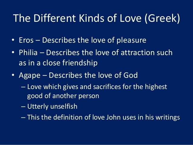 the different types of love Free essay: different types of love in william shakespeare's romeo and juliet in romeo and juliet, love is an integral theme and there is many.