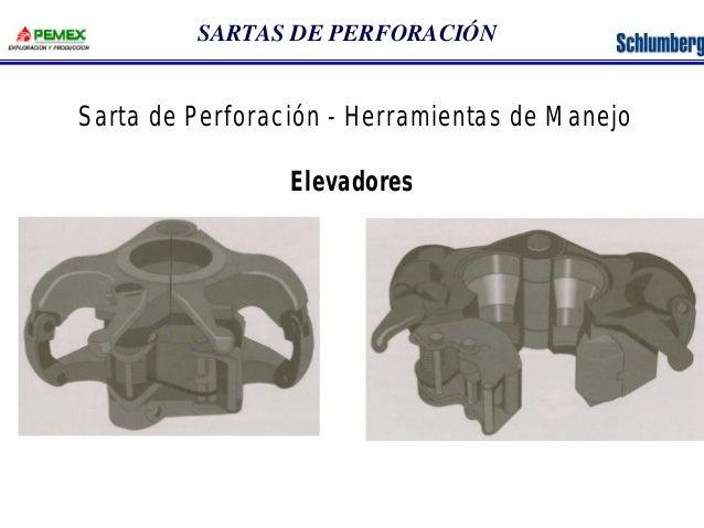 SARTAS DE PERFORACIÓN  Sarta de Perforación - Herramientas de Manejo  Elevadores
