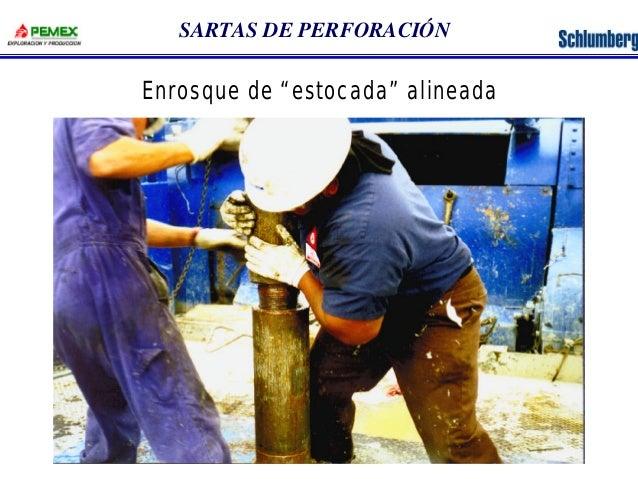 """SARTAS DE PERFORACIÓN  Enrosque de """"estocada"""" alineada"""
