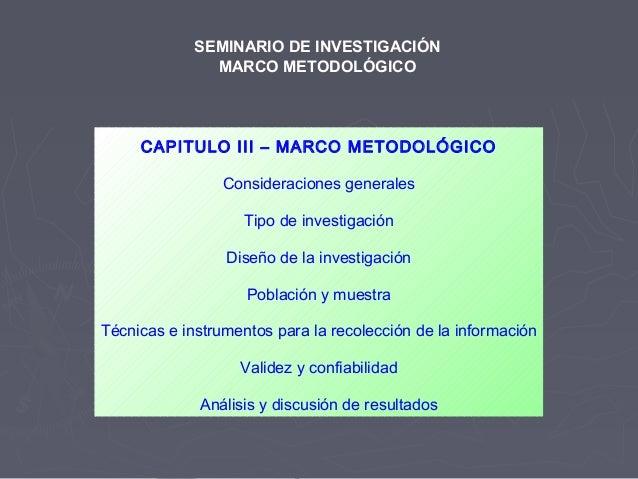 CAPITULO III – MARCO METODOLÓGICOConsideraciones generalesTipo de investigaciónDiseño de la investigaciónPoblación y muest...