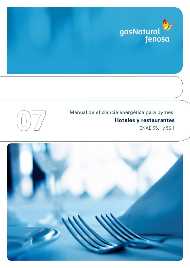 07     Manual de eficiencia energética para pymes                       Hoteles y restaurantes                            ...