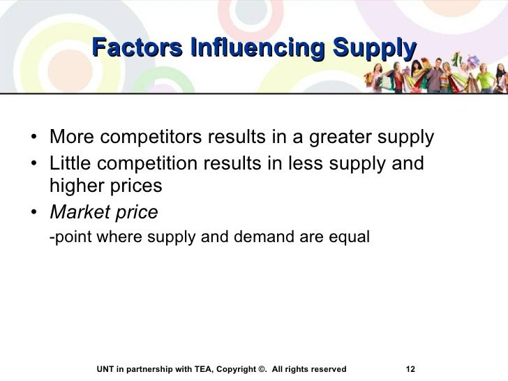 factors that influence demand for goods and services Other factors that may affect supply or demand examples of these  acquiring  additional increments of a good or service in some time period.