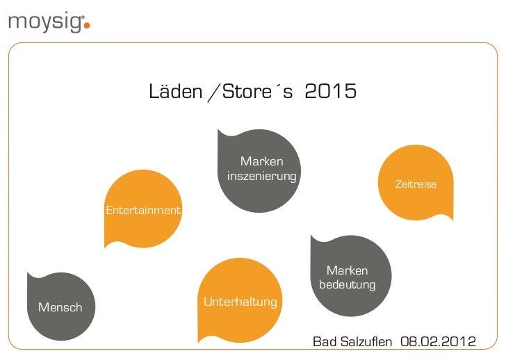 Läden /Store´s 2015                               Marken                            inszenierung                          ...