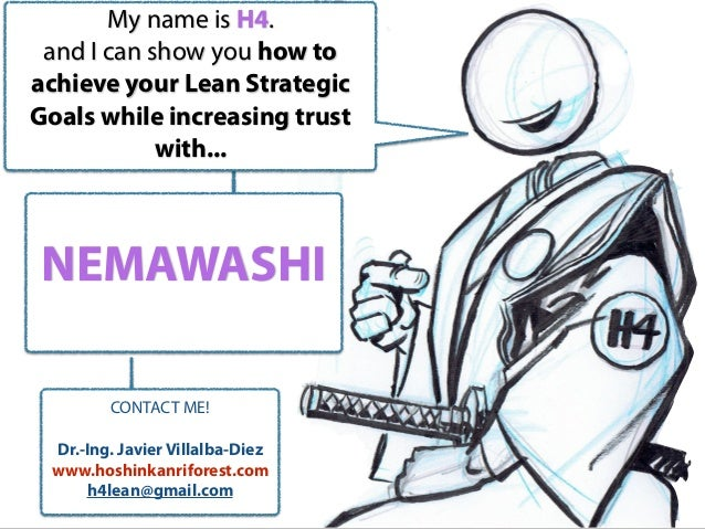 NEMAWASHI My name is H4. and I can show you how to achieve your Lean Strategic Goals while increasing trust with... CONTAC...