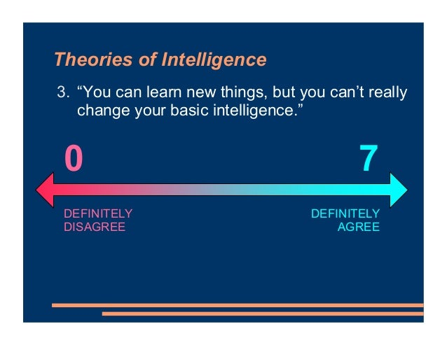 """Theories of Intelligence 3. """"You can learn new things, but you can't really change your basic intelligence."""" DEFINITELY AG..."""