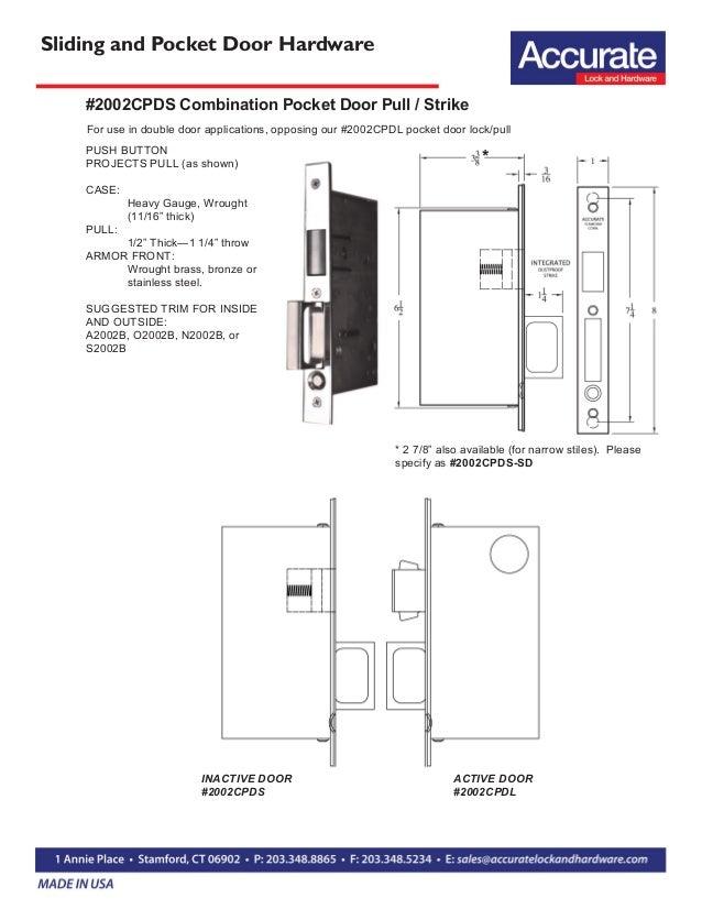Pocket Sliding Door Locks