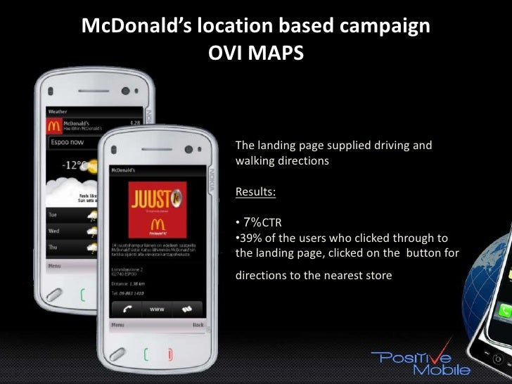 Mobile Video touchVERTISING - UbiSoft •    Interactive video pre roll •    3 sorts of call to action: 1.   Mobile web page...