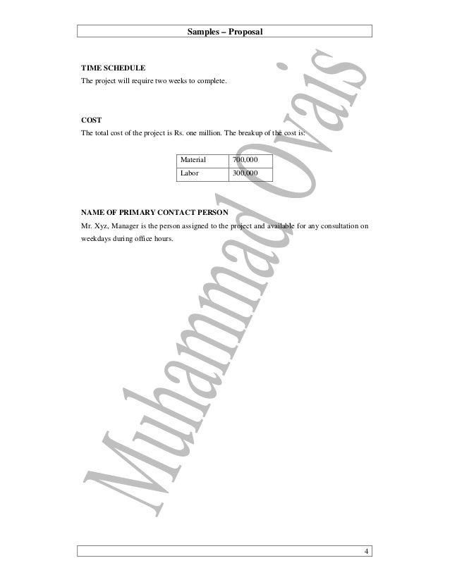 Samples U2013 Proposal ...  Building Proposal Sample