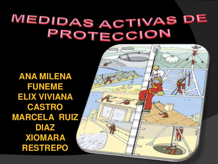 MEDIDAS ACTIVAS DE PROTECCION<br />ANA MILENA FUNEME<br />ELIX VIVIANA CASTRO<br />MARCELA  RUIZ DIAZ<br />XIOMARA RESTREP...