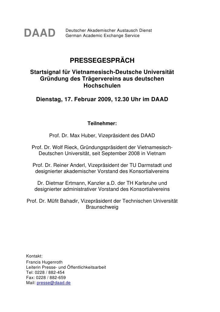 DAAD                Deutscher Akademischer Austausch Dienst                     German Academic Exchange Service          ...