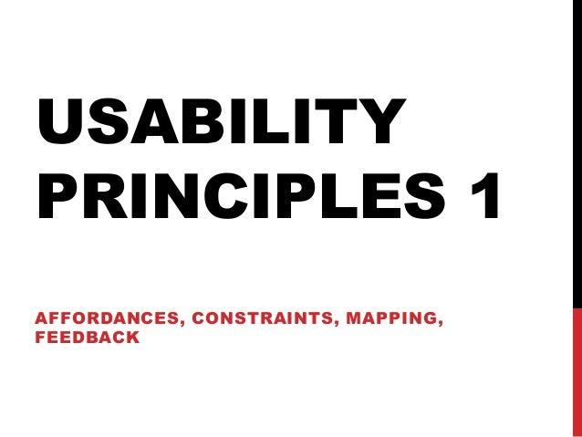 07 principles 1 affordance