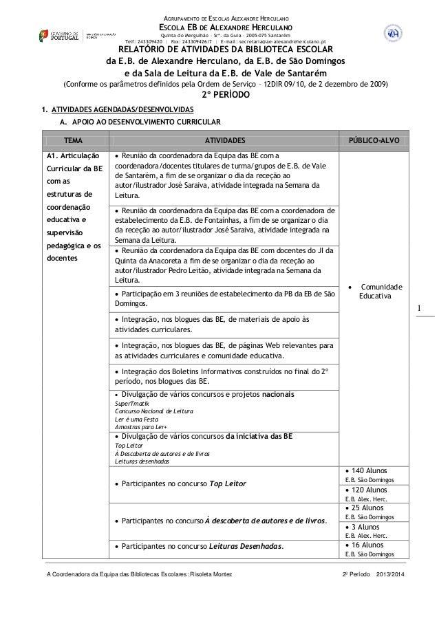 AGRUPAMENTO DE ESCOLAS ALEXANDRE HERCULANO ESCOLA EB DE ALEXANDRE HERCULANO Quinta do Mergulhão – Srª. da Guia – 2005-075 ...